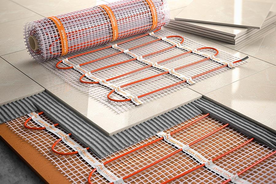 Instalación de calefacción mediante suelo radiante
